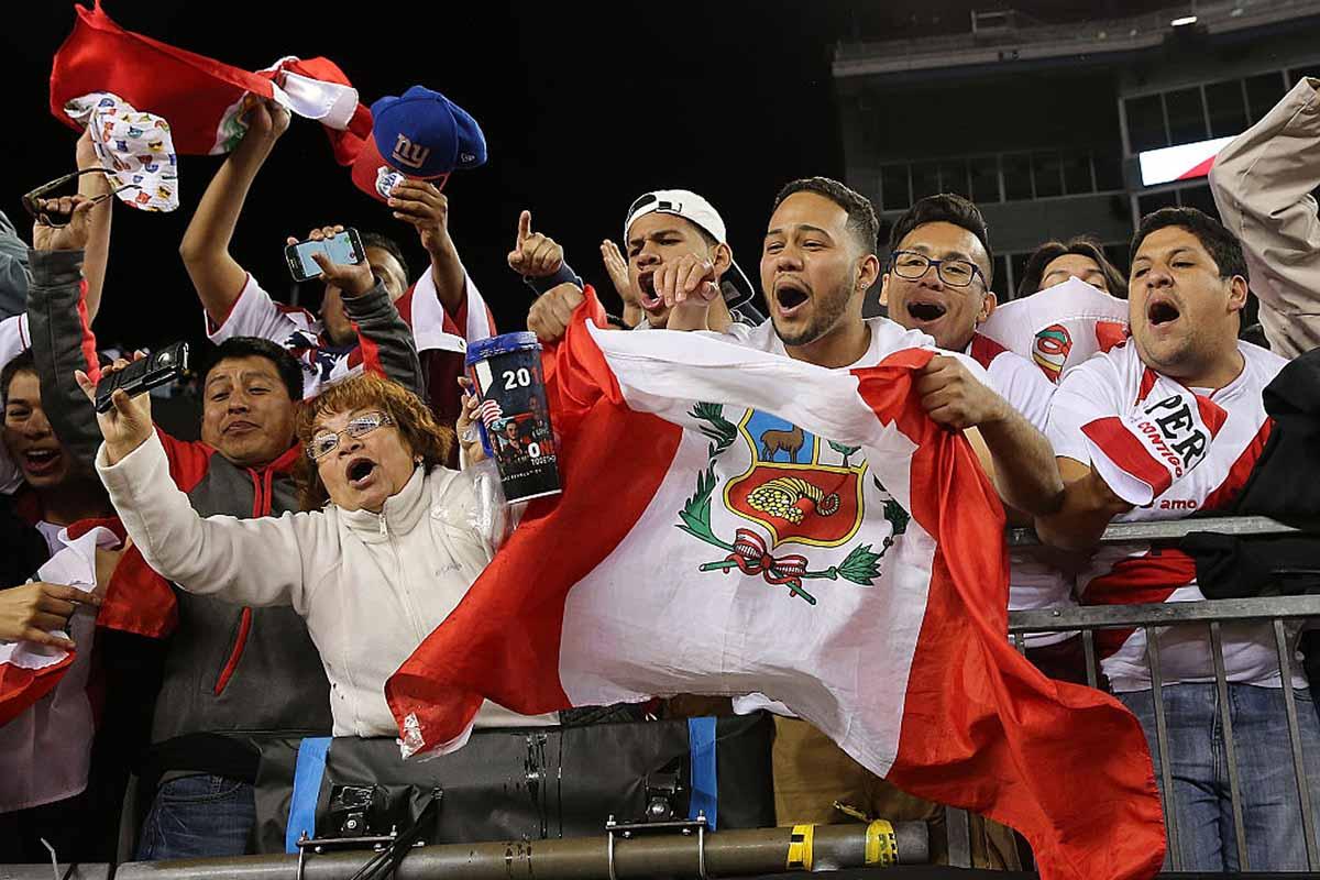 Aficionados de la selección de Perú