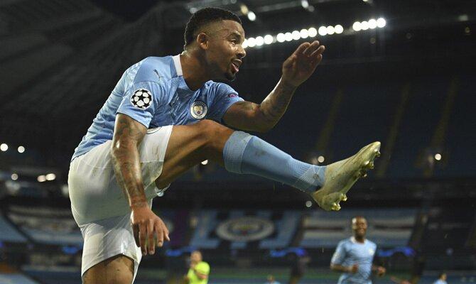 Gabriel Jesus Manchester City vs Lyon