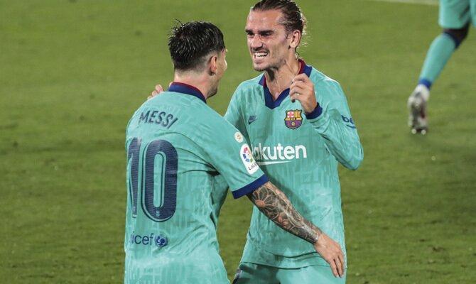 Griezmann y Messi, Barcelona vs Villarreal