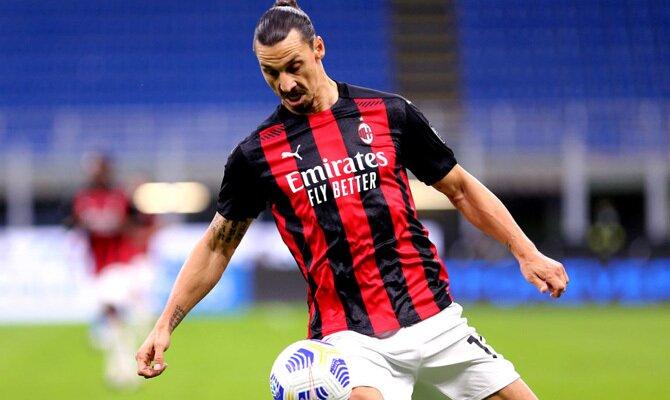 Zlatan Ibrahimovic Milan vs Roma