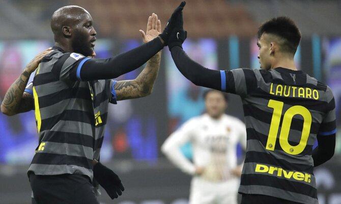 Romelu Lukaku y Lautaro Martínez, dos de los jugadores a seguir de cara a las apuestas en el Inter vs Juventus