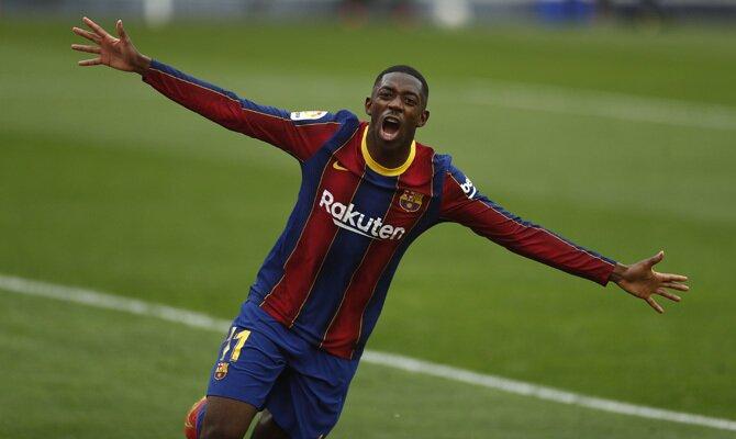 Las celebraciones de Ousmane Dembélé podrían hacer que se cumplan los pronósticos en el Barcelona vs Sevilla