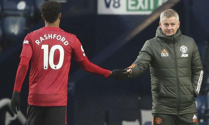 Marcus Rashford y Ole Gunnar Solksjaer esperan sacar un resultado positivo en el Real Sociedad vs Manchester United