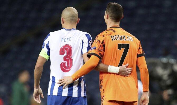 Pepe y Cristiano Ronaldo se verán las caras en el Juventus vs Porto. Revisa nuestros pronósticos para este partido