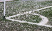 Esquina del terreno de juego y el banderín de córner. Cuotas Sporting Cristal vs Arsenal Sarandí.